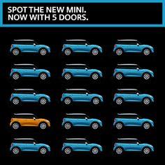 Play spot the MINI 5-door.