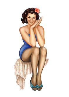 Woolworths Pin Up Girls - I love the old pin up models so classy. Oh sweet heart I do have a job now. A very good job.$$$ No mistakes here.
