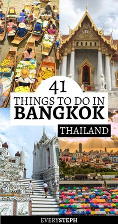 The Epic List of 41 Things To Do in Bangkok, Thailand (with a Map!) - Every Steph, The Epic List of 41 Things To Do in Bangkok, Thailand (with a Map!) - Every Steph Bangkok is such an exciting city to spend a few days! Wondering what. Thailand Vacation, Thailand Travel Guide, Visit Thailand, Asia Travel, Travel List, Travel Goals, Travel Hacks, Backpacking Thailand, Thailand Honeymoon