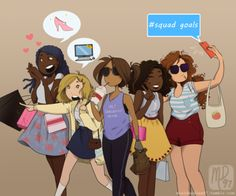 I get a lot of messages asking for fanart of the TLC girls just hanging out together, so here ya go!<----credit Marianna Doodles