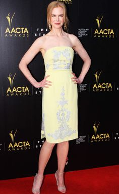 Nicole Kidman in Erdem spring/summer 2013 on the 2nd AACTA Awards red carpet.