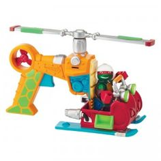 The Teenage Mutant Ninja Turtles: Half-Shell Heroes Drop Copter with Pilot Raph is a two-in-one vehicle of the Ninja Turtles' helicopter.