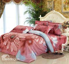 Superior Quality Gorgeous Floral 4 Piece Bedding Sets  @bedding inn