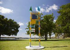 'Deep Water' UV Meter and sculpture by Tony Jones at Deep Water Point, Mt Pleasant, Western Australia