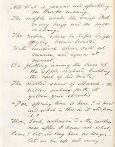 Handwritten Walt Whitman poem