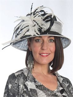 1df48a77915 Black Ivory Feathers Grand Hat for the mother of the bride. Mother Of The  Bride