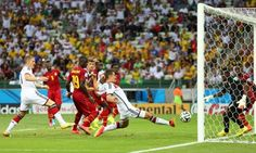 Miroslav Klose outstretched leg equalises for Germany against Ghana in a 2-2 thriller in World Cup 2014