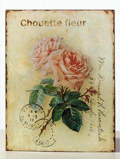 postales antiguas  antique rose post card