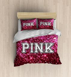 Victoria Secret Pink Bedding GLITTER LOOK Not Real by DesignyLand