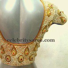 Gold Color Sequins Blouses | Saree Blouse Patterns