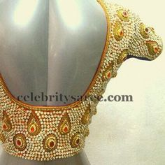 Gold Color Sequins Blouses | Saree Blouse Patterns