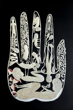 Elsa Mora: Paper Pieces for the Racine Art Museum. on Behance