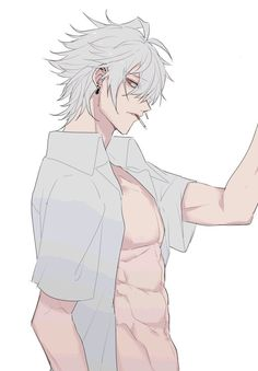 Check out these Best Anime Cosplay costume at this Expo. Hot Anime Boy, Dark Anime Guys, M Anime, Cute Anime Guys, Anime Demon, Anime Art, Anime Guys Shirtless, Handsome Anime Guys, White Hair Anime Guy