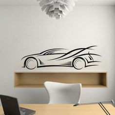 Abstract Race Car - Wall Decals Stickers