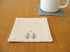 Pine Trees Coasters | a pair of hand embroidered coasters wi… | Flickr