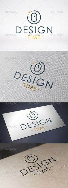Design Time Logo Template  #GraphicRiver         - Three color version: color, greyscale and single color.   - The logo is 100% resizable.   - You can change text and colors very easy using the named and organized layers that includes the file.   - The typography used is Century Gothic a system default font.                         Created: 5 December 13                    Graphics Files Included:   Vector EPS #AI Illustrator                   Layered:   Yes                   Minimum Adobe…