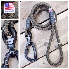 Forest Camo Dog Leash with 360 nanoSwivel & Carabiner. For the Big Dogs. Made in USA. http://MyDogsCool.com