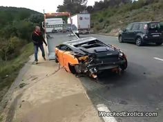 Lamborghini Gallardo LP 560-4 Bicolore crashed in France