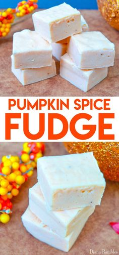 Microwave Pumpkin Spice Fudge Recipe - It's pumpkin spice season and I have a great dessert recipe for you. It is simple Pumpkin Spice Fudge that is made in the microwave. Make it and everyone will be asking you for the recipe!