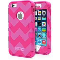 Run Deal! Luxury Love Pink Secret Case! iPhone 5S Case, MagicMobile® Hybrid Impact Shockproof Hard Armor Cover for iPhone 5 Soft Silicone Skin [Chevron Pattern with Pink Zebra Love Design and Pink Silicone] iPhone 5s Case for girls with Screen Protector and Stylus