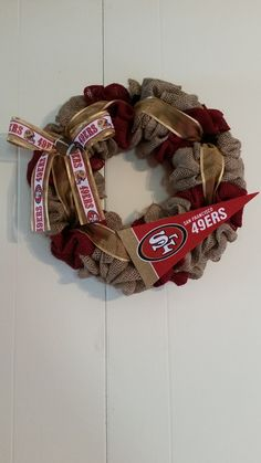 San Francisco 49ers NFL wreath