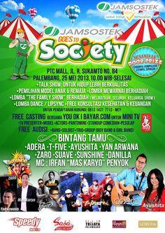 """Hay, palembang dateng yuk dlm acara """"Jamsostek Goes To Society"""" di PTC Mall banyak acara yg seru loh!"""