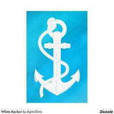 White Anchor Acrylic Wall Art