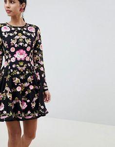 Bilderesultat for a line dress flower asos