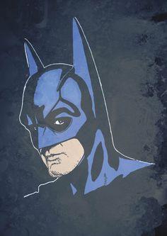 George Clooney as Batman by tomcert on Etsy