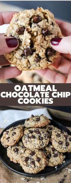 These Oatmeal Chocolate Chip cookies are the perfect mix of oatmeal and chocolate. So easy to whip up and majorly delicious; these will be your favorite cookie! Best Comfort Food, Comfort Foods, Yummy Treats, Yummy Food, Fun Cooking, Cooking Recipes, Birthday Desserts, Oatmeal Chocolate Chip Cookies, Breakfast Snacks