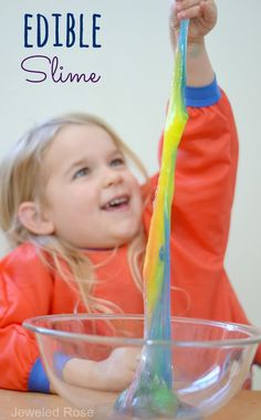 Edible & borax FREE Kool-aid slime {A new & safe way to make slime for kids}