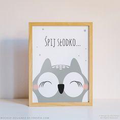 Plakat z sową / Poster with owl