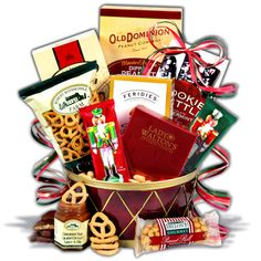 Nutcracker Drum Christmas Gift Basket  $49.99    Another exclusive addition to our collection of Christmas baskets, this stunning red and gold