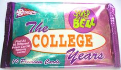 Saved By The Bell The College Years Trading Cards - Unopened pack - 1994 - Rare by BunkysVintageCrafts on Etsy