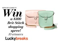 Enter here to win one of 10 Brit-Stitch shopping sprees––worth $300 each! I think these are the cutest!