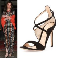 Copy Princess Kate's style with the best repliKate shoes & boots for less!  Gianvito Rossi Sisely Black Suede Sandals ...