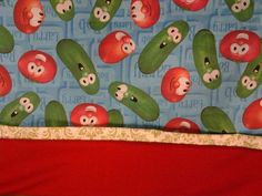 VeggieTales, Custom Handmade. Washable. Bob the Tomato, Larry The Cucumber. Fits Standard Size Pillow. by MissAmandaMadeIt4Me on Etsy #Etsy #Inselly #Handmade #Pillow #Cover #Case #Pillowcase #VeggieTales #LarryBoy #BobTomato #LarryCucumber #Christian #kidsRoom