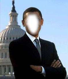 #Fotomontaje de barack #Obama, #presidente de los #USA para poner tu foto. www.fotoefectos.com