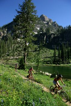 Biking White Pine Lake in Cache County Utah - Photo courtesy of Cache Valley Visitors Bureau Mtb, Mt Bike, Mountain Bike Trails, Bike Seat, Adventure Is Out There, Bike Life, The Great Outdoors, Scenery, Places To Visit