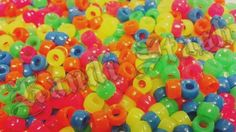 1000 7mm NEON MIX MINI pony beads by KandiStash on Etsy, $4.00
