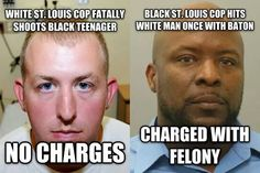 """""""@joey_toledo: Keep it classy St Louis """" This is the EXACT same prosecutor from the Brown case. but w/ a Black cop."""
