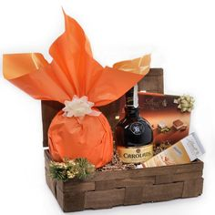 Cos de Craciun cu Lichior Carolans Cos, Whiskey, Santa, Whisky
