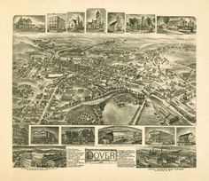 Historical Map of Dover, NJ - 1903
