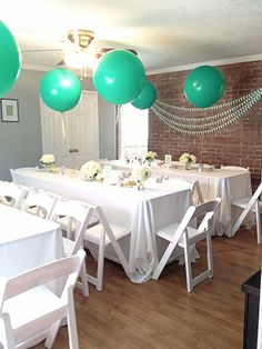 Mint baby shower ideas | 100 Layer Cakelet