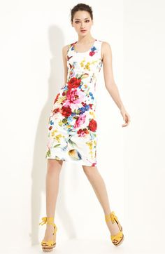 Dolce & Gabbana Printed Stretch Cotton Dress    love this print!!