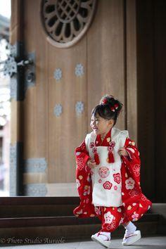 『可愛い3歳七五三ロケーション撮影(明治神宮)』Kimono children
