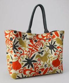 Take a look at this Fleur Tomato Carryall Tote by rockflowerpaper on #zulily today!  Already sold out :(  $19