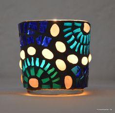 Windlicht Perlenstern 7 cm hoch - Mosaikkasten
