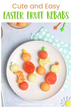 Food Art For Kids, Cooking With Kids, Easter Snacks, Easter Recipes, Fruit Kebabs, Kebab Recipes, Easy Party Food, Kids Meals, Healthy Snacks
