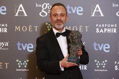 """Premio """"mejor actor protagonista"""". Javier Gutiérrez, por ' la isla mínima'. #goya2015 #federopticos #premiados"""